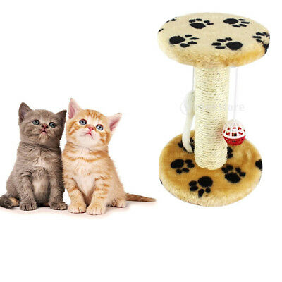 Sisal Cat Scratching Post Play Toy Activity Center Funiture Scratcher Claw