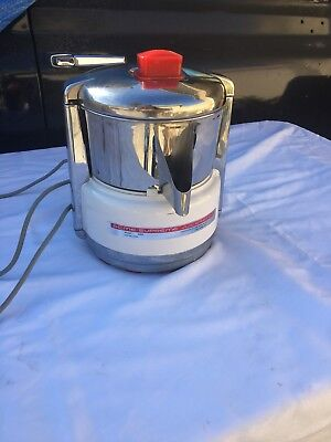 Vintage Acme Supreme Juicerator 6001 Stainless Steel Juicer