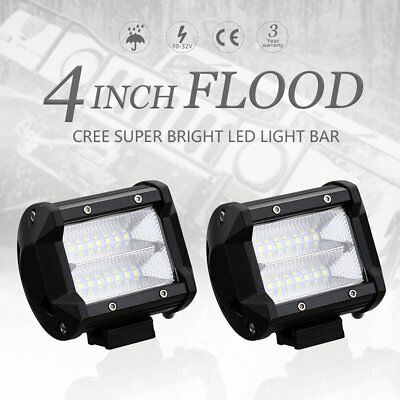 "Pair 48W 4""INCH LED Work Light Bar Pod Work Flood Beam Offroad Fog Driving Boat"