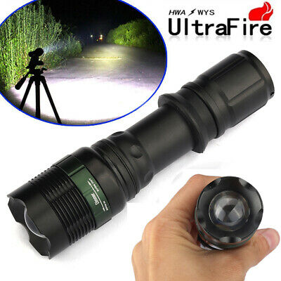 Ultrafire Tactical 90000LM Zoomable T6 LED Flashlight 18650 Super Bright Torch