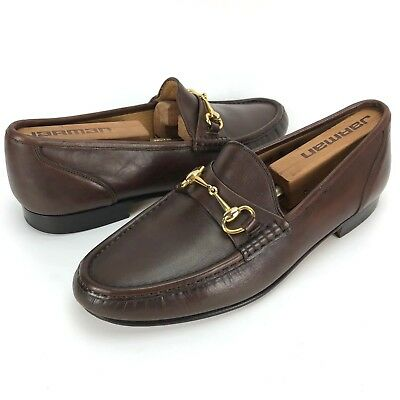 Church's Handmade Men's Size 8.5 W UK 9 W US Brown Leather Horsebit Loafers