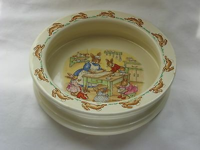 Vintage Royal Doulton Bunnykins Porridge Bowl Barbara Vernon Signed 1959-1967