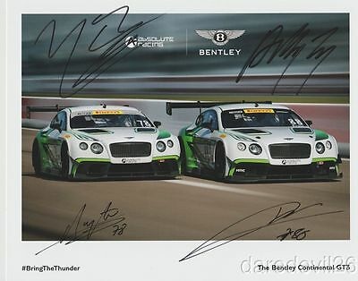 2017 Absolute Racing Bentley Continental GT3 Sprint X signed PWC postcard