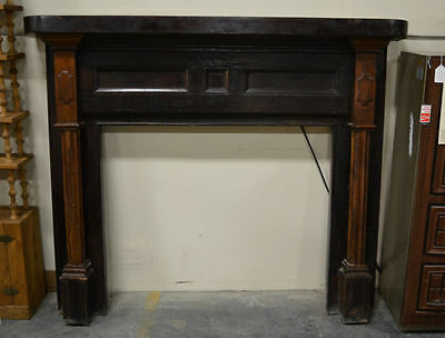 Antique Oak Mantel with Original Finish