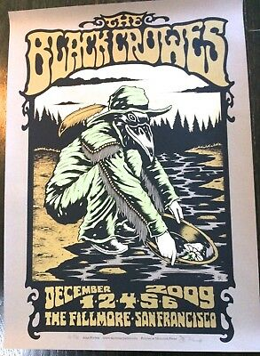 Black Crowes Lithograph, 2009 poster, Allen Forbes signed and numbered, Fillmore