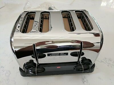 """Hatco TPT-120D Commercial Pop-Up Toaster w/(4) 1.25"""" Slots 120v  NEW Polished SS"""