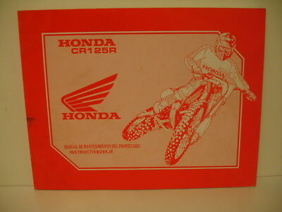 honda cr 125 r 1993  manual de   mantenimiento   instructieboekje