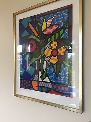 "Romero Britto Limitierte Grafik ""It´s for You"" , signiert und gerahmt"