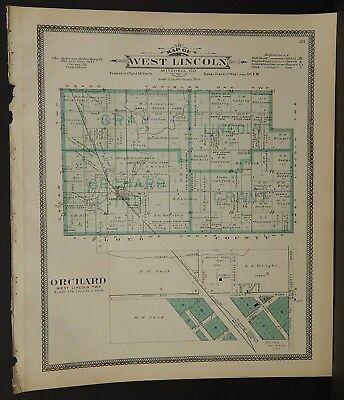 Iowa Mitchell County Map West Lincoln Township 1911  J18#62