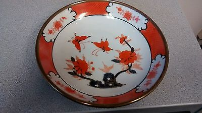 "Japanese Porcelain Brass Cased 7.25"" Bowl, Decorated/Hand Painted In Hong Kong"