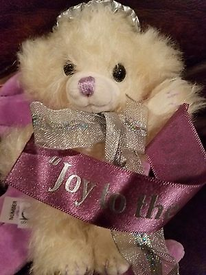 "Merrythought Bear Cheeky Angel Purple Wings LMT #95 6"" made England"