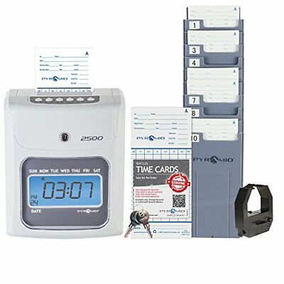 Time Clock Payroll Machine Employees Punch In System Card Electronic Office Auto