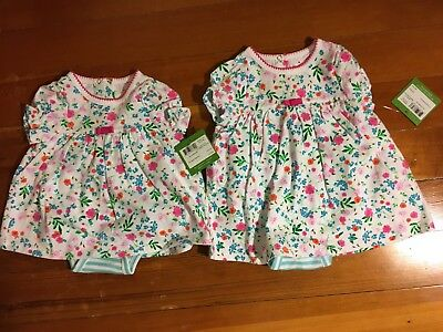 Nwt New Girls Sz 3M, 6M Kate Spade New York Skirted One-Piece Floral Striped