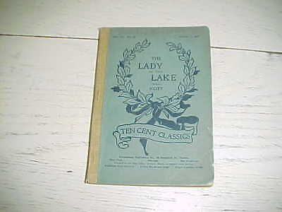 1900 Lady of the Lake Book Sir Walter Scott in 6 Canto Ten Cent Classics