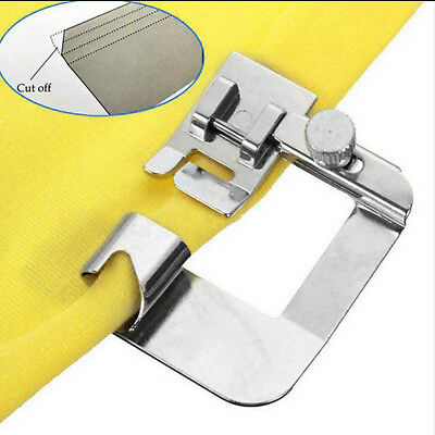 """Wide Rolled Hem 1/2"""" Foot Clip On Hemmer Foot Press Sewing Machines Snap on New"""