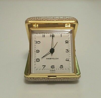 Vintage Westclox Travel Alarm Wind Up Clock