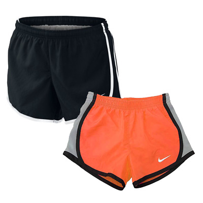 Girl's Nike Dri-Fit Training Running Shorts, Small/Medium NEW Black/Orange