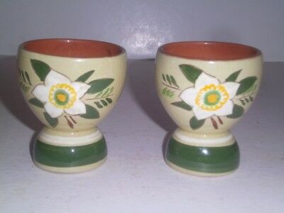 Stangl Pottery USA WHITE STAR FLOWER Double Egg Cup TWO