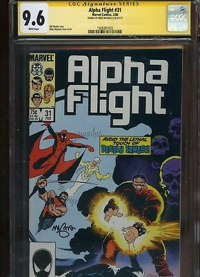 Alpha Flight #31 CGC 9.6 SS Mike Mignola 1986