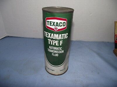 Vintage Unopened Texaco Texamatic Type F Automatic Transmission Fluid Tin