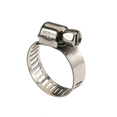 CLAMP HOSE 11-22mm Full Stainless Steel Hose Clamp Pk 10 Tridon MAH006P Tridon