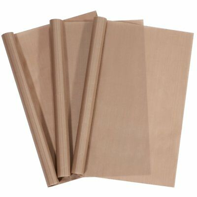 3 Pack PTFE Teflon Sheets for Stick Craft Mat Sheet Heat Press Transfer Sheet...