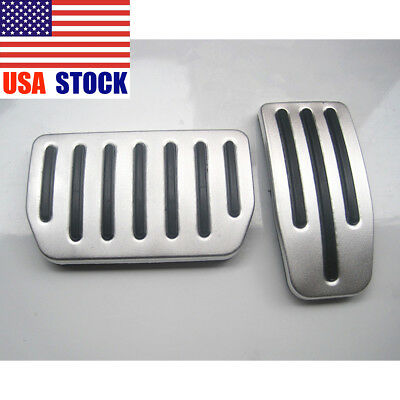 2pcs Aluminum Non-Slip Performance Foot Pedal Pads for Tesla Model S and Model X