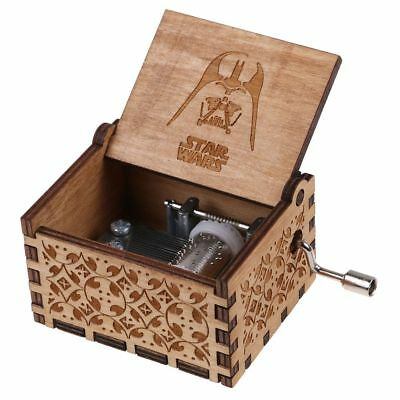 STAR WARS Music Box Engraved Wooden Music Box Crafts Gift Toy New