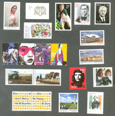 Ireland Complete Year set 2017 stamps & Min sheets mnh