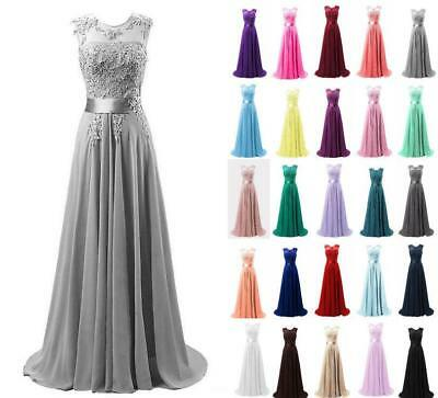 Chiffon Long Evening Party Ball Gown prom dress Bridesmaid Dresses Size 6-20