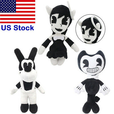 Handmade Bendy Boris Alice Angel Plush Toys Soft Stuffed Figure Dolls for Kids