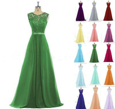 Lace Long New Bridesmaid Formal Ball Gown Party Cocktail Prom Evening Dresses
