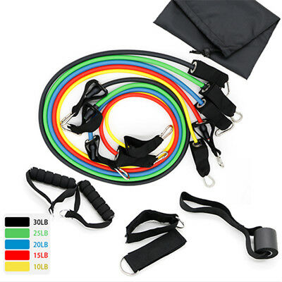 Exercise Latex Resistance Bands Tube Workout Gym Yoga Fitness Stretch Train CTJ7