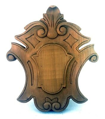 Victorian Style Pediment Finial Carved Wood Unfinished