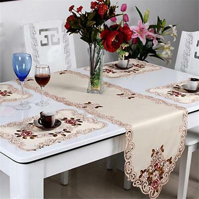 Flower Insulation Bowl Placemats Dining Linen Pad Western Table Mat Pastoral