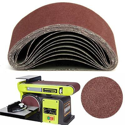 20 X Sanding Belts 75Mm X 457Mm Mixed Grade 40 60 80 120 Grit Power Tool Sander