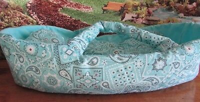 """baby doll carrier,blanket and pillow 14-16"""" berenguer/american bitty baby turqu"""