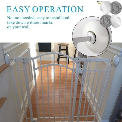 4pcs  Improved Baby Gates Wall Pads Wall Nanny For Pet Gates Gate Wall Protector