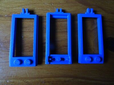 LEGO PART 4587 BLUE  HORSE HITCHINGS WITH HINGE x 3 TOTAL