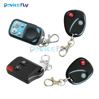 2/4Buttons RF Remote Control Garage Gate Door Transmitter Wireless 315MHz/433MHz