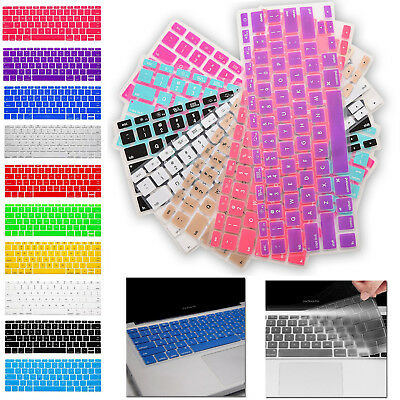"Colored Soft Keyboard Case Cover Protector Apple Macbook Air Pro 17"" 13.3"" 15.4"""