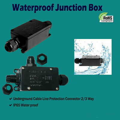 Outdoor Waterproof IP65 Electric Cable Connector Junction 2way/3way Box 240V UK