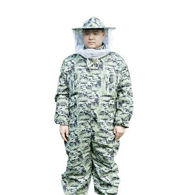 Beekeeper Jumpsuits Bee Suit Veil Hat Pull Over Smock Protective Equip L