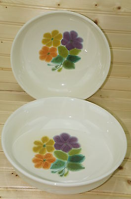 Franciscan FLORAL Lot of (2) Vegetable Serving Bowls 9 1/2""