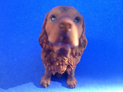 Collectible Poly Resin Statue Home Decor Figurine Pet Sussex Spaniel Dog Doggy