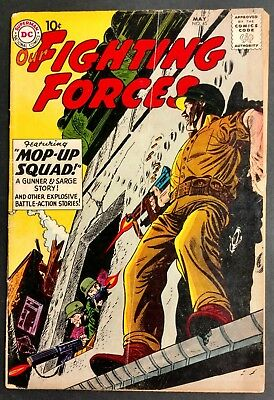 Our Fighting Forces #45 1959 Solid G/vg Key Bk 1St Gunner+Sarge 3 Great Stories!