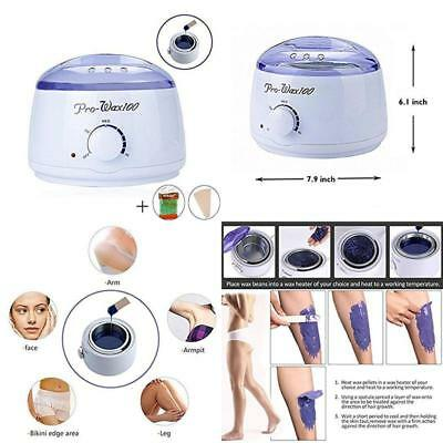 New Hair Removal Waxing Kit Hot Wax Heater Pearl Wax Machine with Wax Beans UK