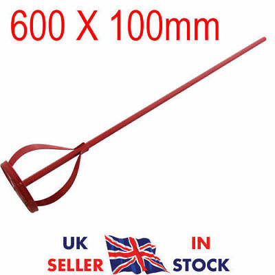 600 X 100Mm Paint Mixer Stirring Mixing Paddle Plasterer Drill Attachment Uk Pro