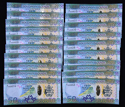 Solomon Islands 50 Dollars, ND 2013, Uncirculated (for each note)