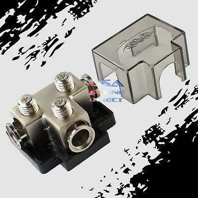 PLATINUM POWER GROUND DISTRIBUTION BLOCK Three 1/0 2AWG GAUGE IN /OUT MARINE AWG